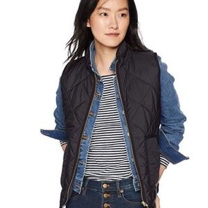 J. Crew Quilted Puffer Vest in Black